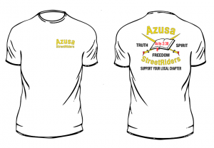New Azusa StreetRiders Support Shirt.